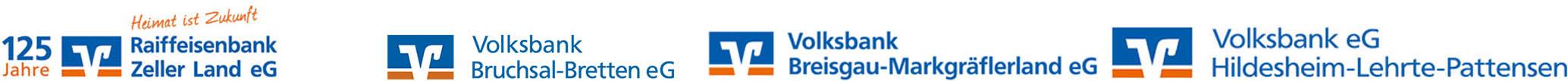 Raiffeisenbank Zeller Land eG - Volksbank Bruchsal-Bretten eG - Breisgrau-Markgräflerland eG - Hildesheim-Lehrte-Pattensen